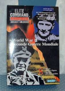 ELITE COMMAND; WORLD WAR II, 8 DIE CAST MILITARY FIGURES   COLLECTORS