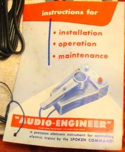 Marx Remote Control Audio Engineer Lionel~American Flyer Train Toy NIB