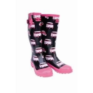 Ladies Camper Van Funky Fashion Festival Wellies