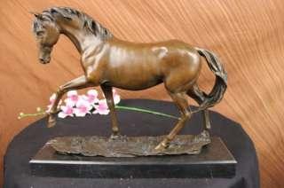 Large Arabian Horse Bronze Sculpture Statue By P J Mene