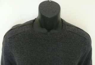 detail crew neck sweater gray sport fashion jumper logo M