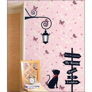 CROSS ROAD & CAT Adhesive Removable Wall Home Decor Accents Stickers