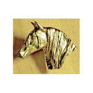 Mayer Mill Brass Large Horse head drawer pull