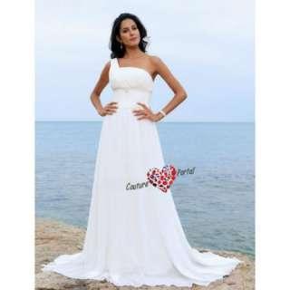Column One Shoulder Court Train Chiffon Wedding Dress