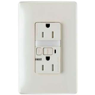 Pass & Seymour 15 Amp Light Almond Wall Outlet with Nightlight