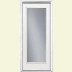 Prehung Left Hand Full Lite Inswing Steel Entry Door With Brickmold