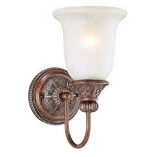 Hampton Bay Bronze One Light Wall Sconce BSG8411