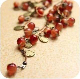 C4896 New Fashion Jewelry Thailand Red Beads Cherry Shape Pendants