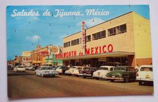 1960s Old Cars Woolworth Stores Tijuana BCN Mexico PC
