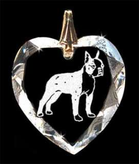 Boston Terrier Dog Crystal Necklace Jewelry