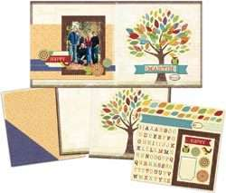 Family Tree Hello Fall 12x12 Page Kit by C Thru Ruler Co. 88359100190