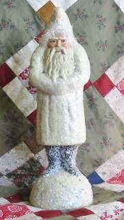 Vintage Style 13 inch Ivory Belsnickle Paper Mache Santa
