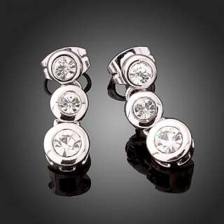 ARINNA Swarovski Crystal White Gold GP zircon Earrings