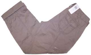 Calvin Klein Jeans Womens Cargo Capris   Taupe Gray NWT