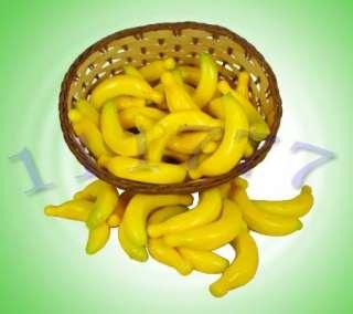 100 pcs fake banana artificial fruit kitchen house decor
