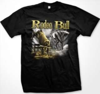 Rodeo Bull Cowboy Country Western Mens T Shirt Tee