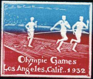 1932 Los Angeles OLYMPIC GAMES   Scarce Poster Stamp