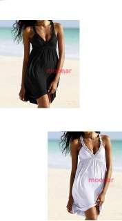 Floral V Neck Halter Midi Beach Wear Dress Holiday Skirts Playsuit