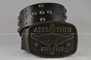 Affliction Leather Belts New Styles 2012 S Skull Cross Archaic LIve