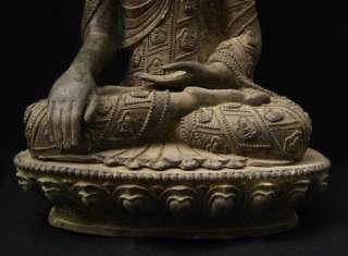 Old Tibet Tibetan Bronze Buddha Shakyamuni Statue