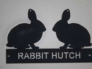 rabbit hutch sign heavy metal pen pet