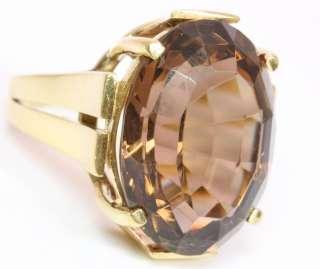 14kt 585 Gold Ring Rauchquarz Rauchtopas Topasring Topas Gelbgold