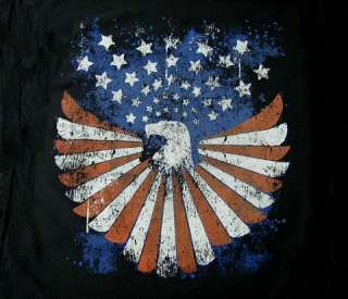 PATRIOTIC AMERICAN FLAG EAGLE SWEATSHIRT T SHIRT 505