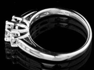 Colorless Diamond 14K White Gold Wedding Anniversary Ring