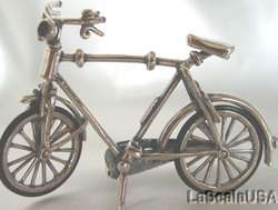 Miniature Sterling Silver BOYS BICYCLE Bike #097