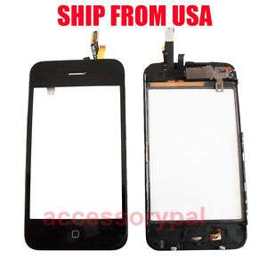 iPHONE 3GS 3 G S COMPLETE FRONT DIGITIZER LENS ASSEMBLY