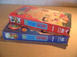 SEALED CLASSIC CARTOONS VOLUME 1 & 2 VHS TAPES POPEYE