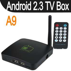 Full HD HDTV Google Android 2.3 Inter TV Box A9 WIFI Media Player