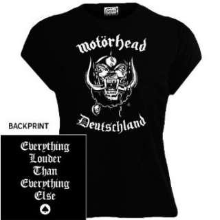 Motörhead   Deutschland Girlie Shirt schwarz  Bekleidung