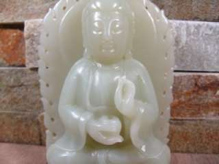 Fine Antique Chinese Carved Jade Kwan Yin Statue
