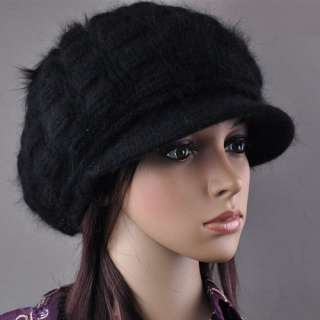 Womens Stripe Winter Wool Snow Warm Cap Knitted Beanie Hat