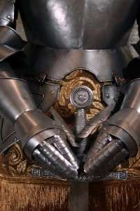 Medieval Knight in Suit of Armor & Sword