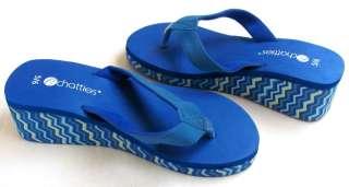 Ladies EVA Wedge Thongs Sandals Flip Flops Retro Animal Side Prints Sz
