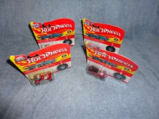Hot Wheels 25th ANNIVERSARY lot of 4 cars MIP red baron, twin mill
