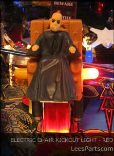 ELECTRIC CHAIR KICKOUT LIGHT Addams Family Pinball * * * New Item