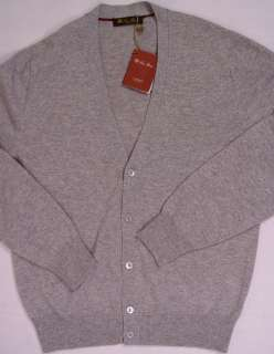 SWEATER $1,045 GRAY CASHMERE 5 BTN CARDIGAN SWEATER L 52e NEW
