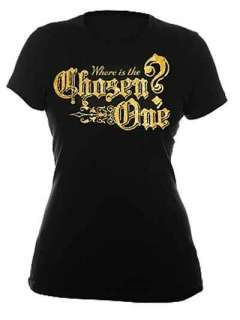 Harry Potter Hogwarts Gold Foil Chosen One T Shirt NWT