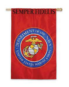 US MARINE CORP HOUSE FLAG, EMBROIDERED