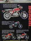 1971 BENELLI Motorcycle Ad Features Cougar Tornado Moto