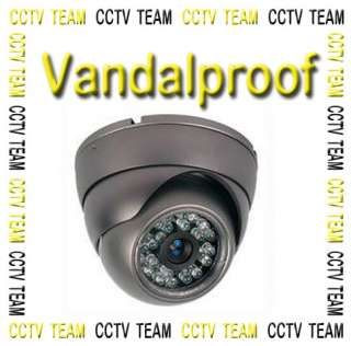 WideAngle Metal Dome Sony Chip CCD CCTV Security Camera