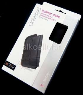 LEATHER POUCH CASE+CLIP SAMSUNG CONQUER EXHIBIT VIBRANT 4G DART