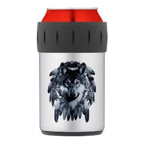 Thermos Can Cooler Koozie Wolf Dreamcatcher Everything Else