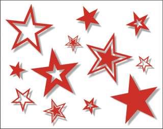 40 Vinyl Star Stickers   Car, Wall, Window Decals ST13