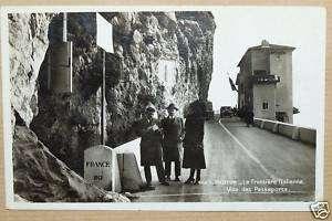 06   CPA MENTON   FRONTIERE VISA DES PASSEPORTS 1939