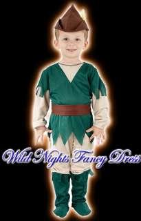 FANCY DRESS COSTUME BOYS ROBIN HOOD TODDLER AGE 2 3