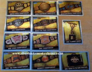 WWE Slam Attax Evolution Full Set of Title Cards Belts